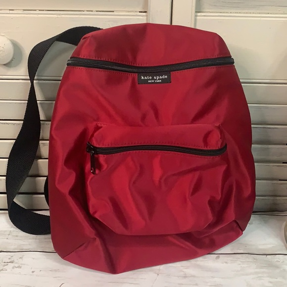 T11 Kate Spade Red Satin Backpack